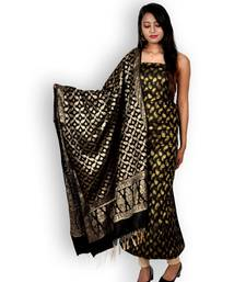 Black Banarasi Cotton Silk Suit