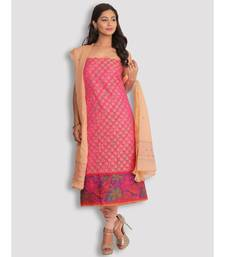 Pink Banarasi 2 Pc Suit with Chikankari