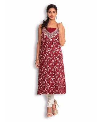 Red Lizi Bizi Kantha Suit