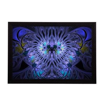 Blue Abstract Satin Matt Texture UV Art Painting