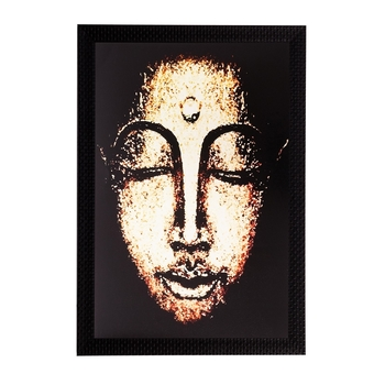 Lord Buddha Matt Textured UV Art Painting
