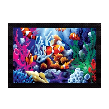 Underwater View Satin Matt Texture UV Art Painting