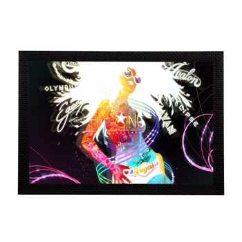 Rock Girl Satin Matt Texture UV Art Painting
