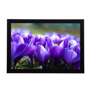 Purple Flowers Satin Matt Texture UV Art Painting