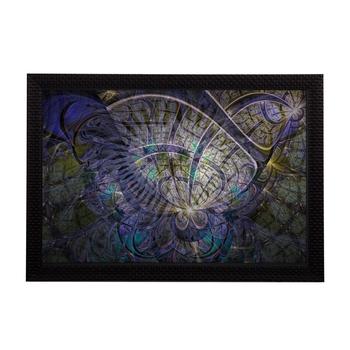 Purple Abstract Satin Matt Texture UV Art Painting