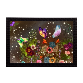 Colorful Butterflies Satin Matt Texture UV Art Painting