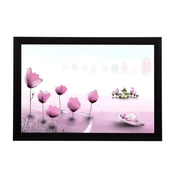 Pink Floral Satin Matt Texture UV Art Painting