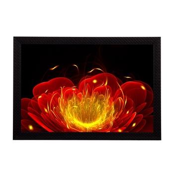 Neon Flower Satin Matt Texture UV Art Painting