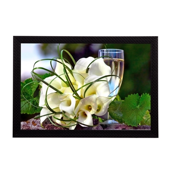 White Bouquet Satin Matt Texture UV Art Painting