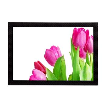 Floral Pink Satin Matt Texture UV Art Painting