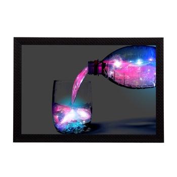 Neon Water & Bottle Satin Matt Texture UV Art Painting