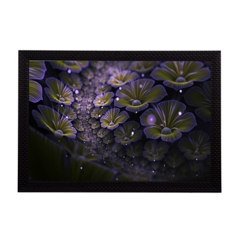 Shining Floral Satin Matt Texture UV Art Painting