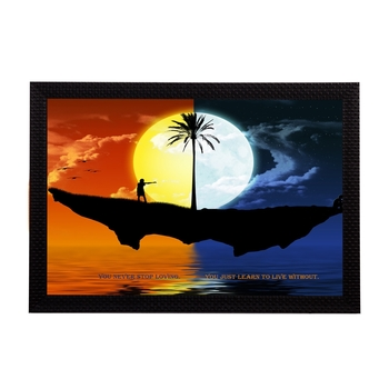 Sunset & Night Satin Matt Texture UV Art Painting