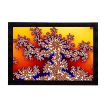 Yellow Abstract Satin Matt Texture UV Art Painting