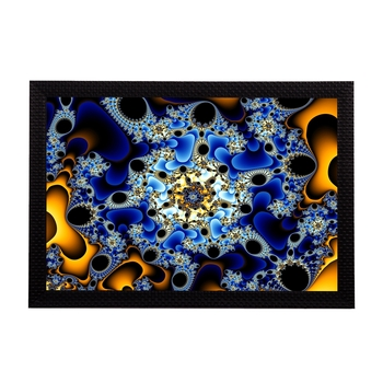 Blue Abstract Satin Matt Texture UV Art Painting