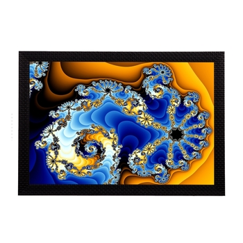 Dual Color Abstract Satin Matt Texture UV Art Painting