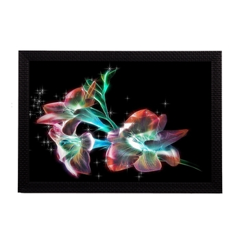 Neon Floral Satin Matt Texture UV Art Painting