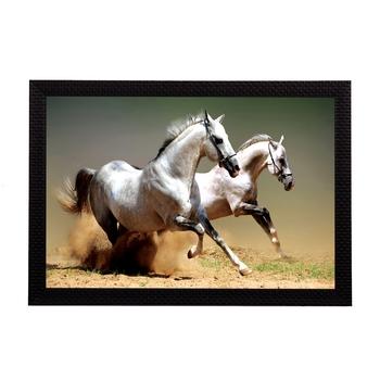 Running Horses Satin Matt Texture UV Art Painting