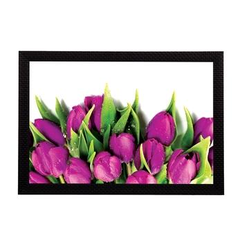 Pink Lillies Satin Matt Texture UV Art Painting