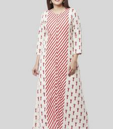 Poppy Striped Rose Dress Kurti