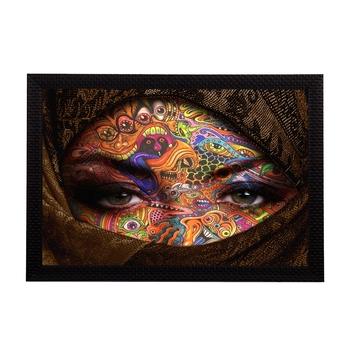 Eyes Says Lot Satin Matt Texture UV Art Painting