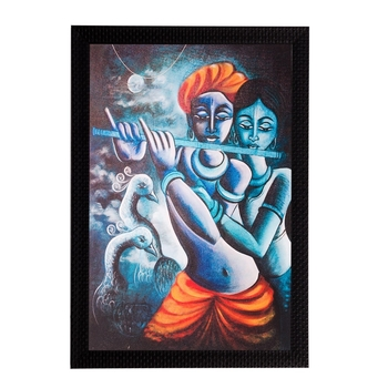 Radha Krishna Matt Textured UV Art Painting