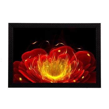Glowing Flower Satin Matt Texture UV Art Painting