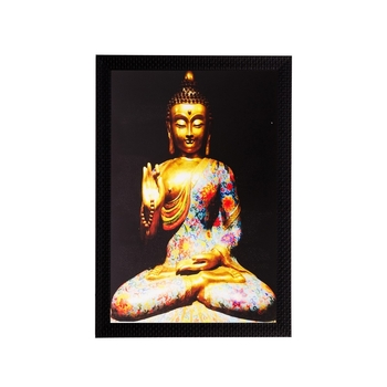 Spiritual Buddha Matt Textured UV Art Painting