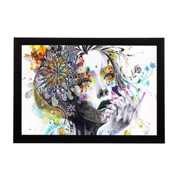 Abstract Face Satin Matt Texture UV Art Painting