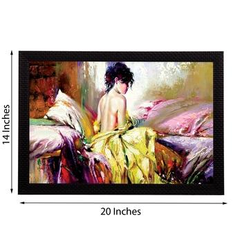Beautiful Lady Satin Matt Texture UV Art Painting