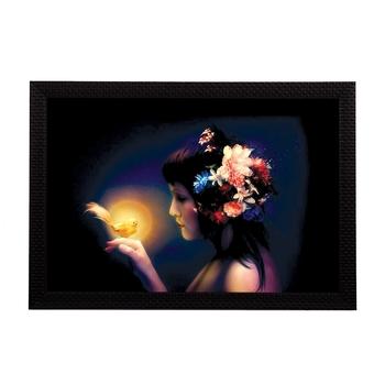 Neon Lady Satin Matt Texture UV Art Painting