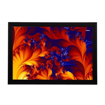 Orange Abstract Satin Matt Texture UV Art Painting
