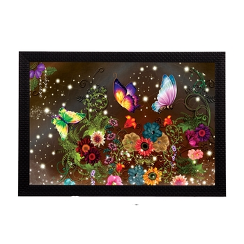 Glowing Floral Satin Matt Texture UV Art Painting