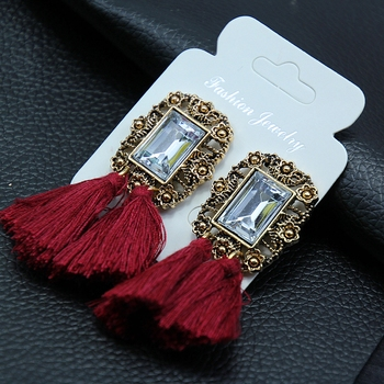 Maroon earrings