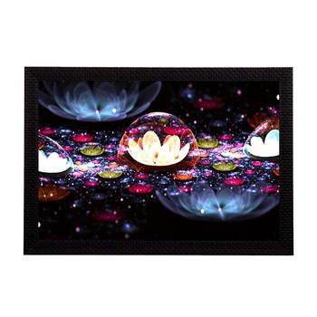 Floral Neon Satin Matt Texture UV Art Painting