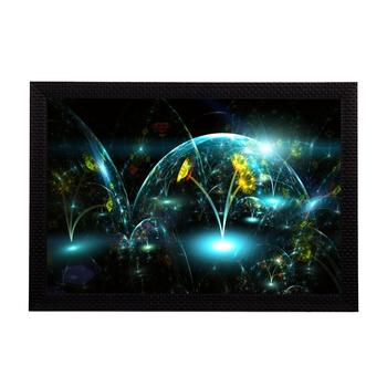 Neon Glowing Floral Satin Matt Texture UV Art Painting