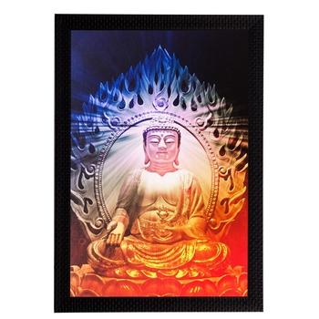 Meditating Buddha Matt Textured UV Art Painting