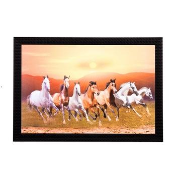 Running Brown Horses Satin Matt Texture UV Art Painting