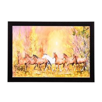 Brown Horses Satin Matt Texture UV Art Painting