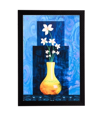 Vase & Flower Satin Matt Texture UV Art Painting