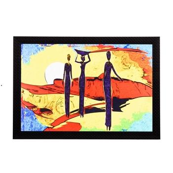 Abstact Women Satin Matt Texture UV Art Painting