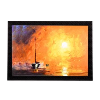 Ship Sailing Satin Matt Texture UV Art Painting