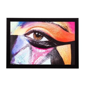 Expressive Eye Satin Matt Texture UV Art Painting