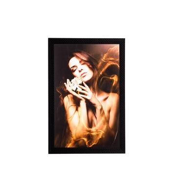Girl Beauty Satin Matt Texture UV Art Painting