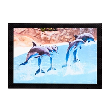 Dolphins Satin Matt Texture UV Art Painting