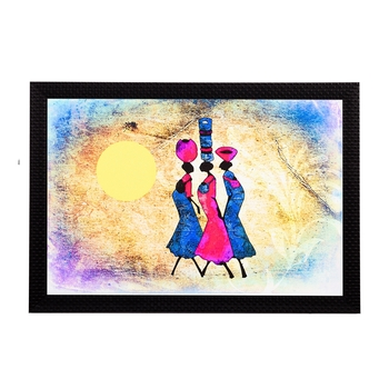 Tribal Women Abstract Satin Matt Texture UV Art Painting