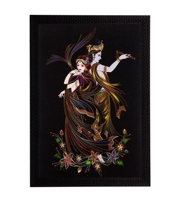 Lord Krishna & Radha Satin Matt Texture UV Art Painting