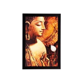 Lord Buddha Matt Textured UV Art Painting