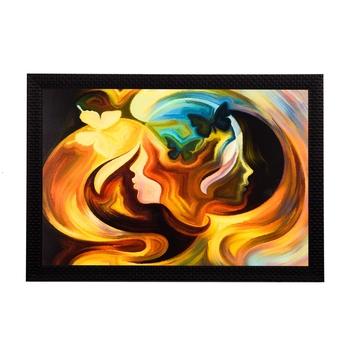 Women Face Abstract Satin Matt Texture UV Art Painting