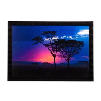 Blue Sunset Satin Matt Texture UV Art Painting